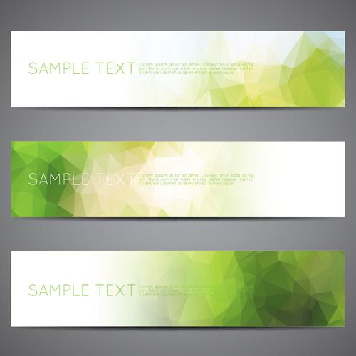polygonal modern banner vector set free vector in encapsulated