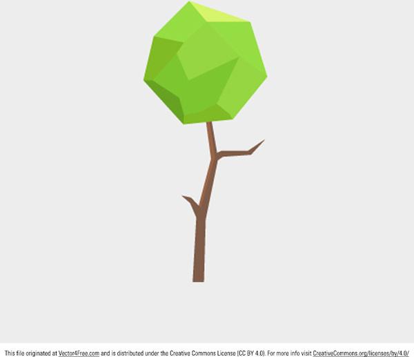 Polygonal Tree Vector Free In Adobe Illustrator Ai