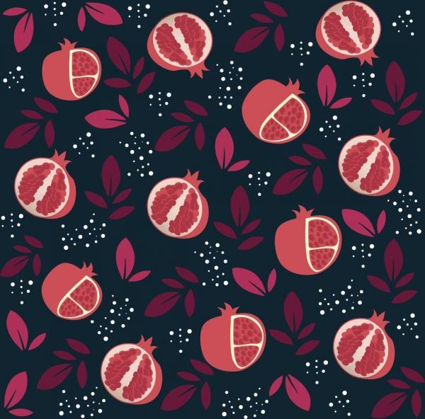 pomegranate background repeating design red dark decoration