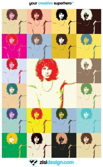 Pop Art Jim Morrison The Doors Poster Vector