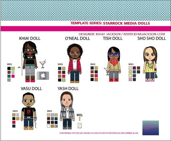 POP Art Series_StarRock Doll Vectors