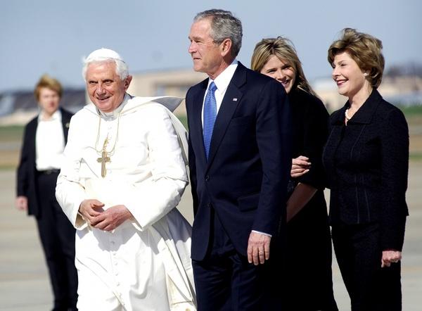 pope benedict xvi president george bush laura bush