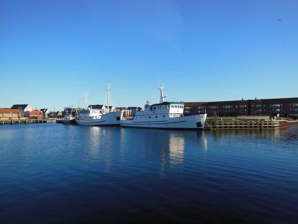 port water blue sky