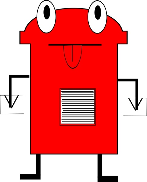 Post Box Free Vector In Open Office Drawing Svg Svg Vector