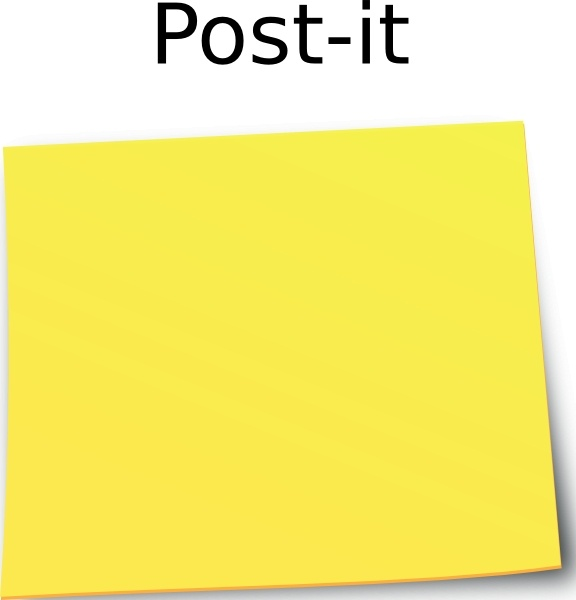 Post It Note clip art Free vector in Open office drawing ...
