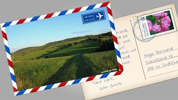 Postcard PSD