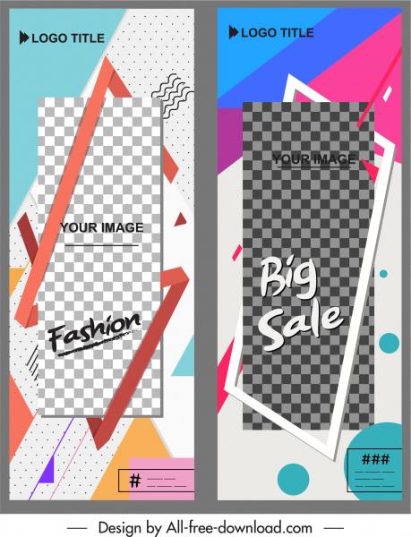 poster templates modern abstract decor standee vertical shape