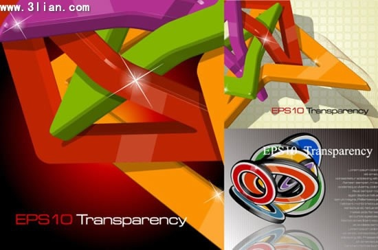 decorative background templates shiny colorful 3d shapes decor