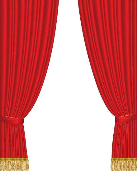 theater curtain background red fabric classical design