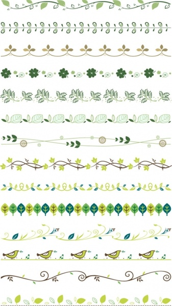 practical plant lace border vector