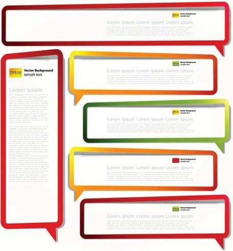 text box templates modern colorful speech bubbles shapes