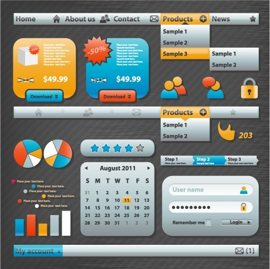 practical web design elements 04 vector
