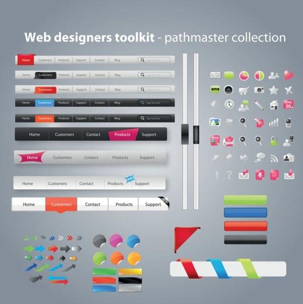 practical web design kit 08 vector