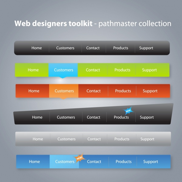 website navigation templates modern colored plain decor