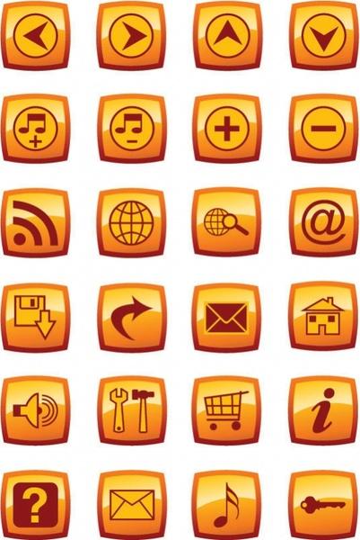 press the button web design icon vector