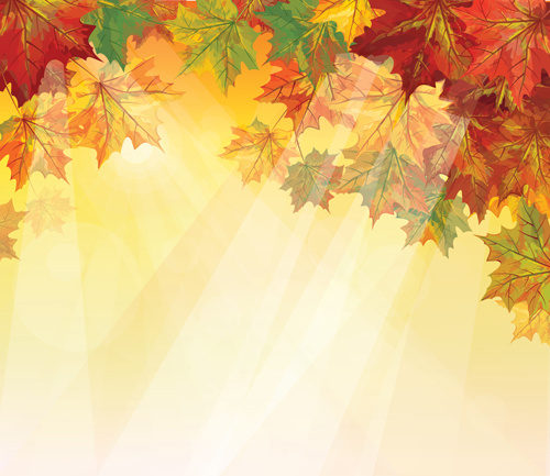 Pretty Autumn Backgrounds Art Vector Free Vector In