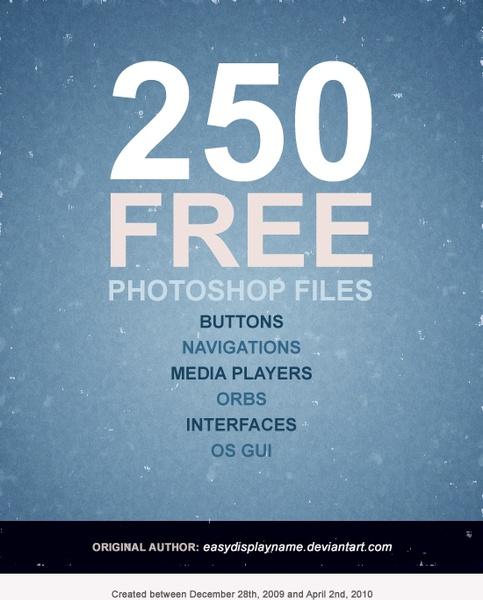 pretty comprehensive set of web design elements button 250 psd files 3