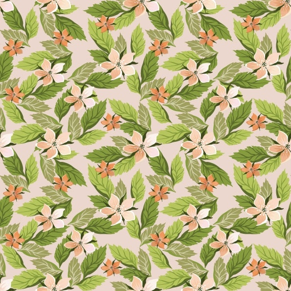 Pretty Flower Background Vector 1 Free Vector In Encapsulated