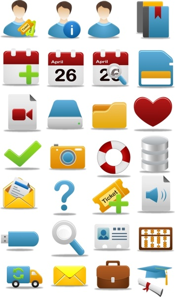 Pretty office icon part 2 icons pack