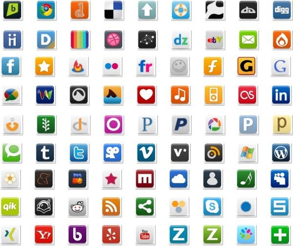 Pretty Social Media Icon Part 1 icons pack