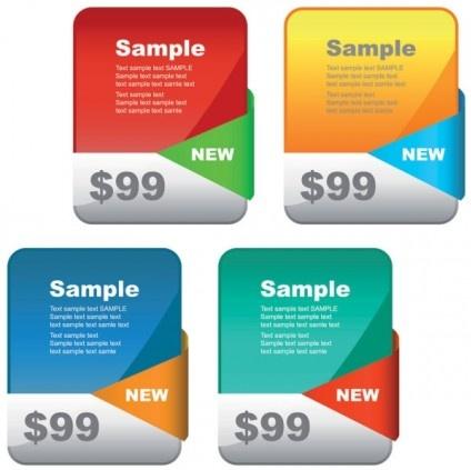 price banner business website vector