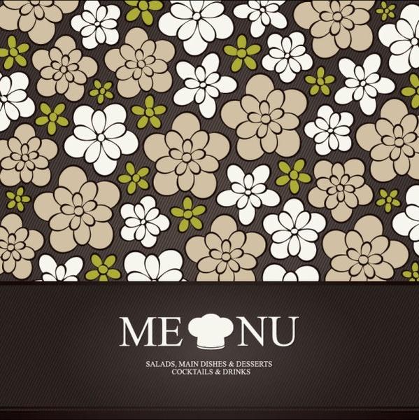 prime pattern menu cover 01 vector