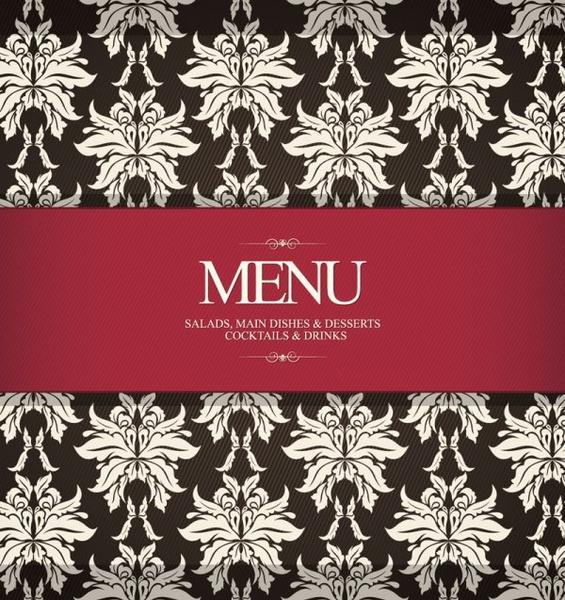 prime pattern menu cover 03 vector