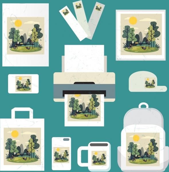 printing technology identity sets landscape decor