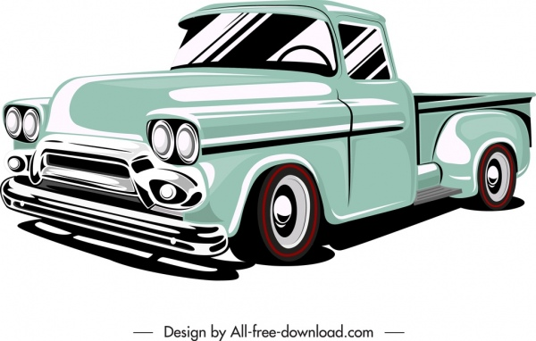 private car van template colored 3d sketch
