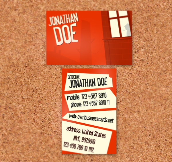 Private Detective Business Card Free Vector In Encapsulated