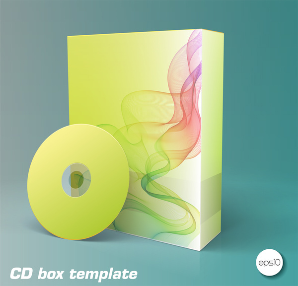 Product box and cd templates Free vector in Adobe Illustrator ai ...