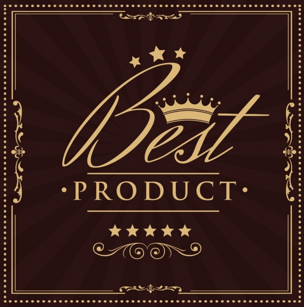 Product promotional banner calligraphy crown stars