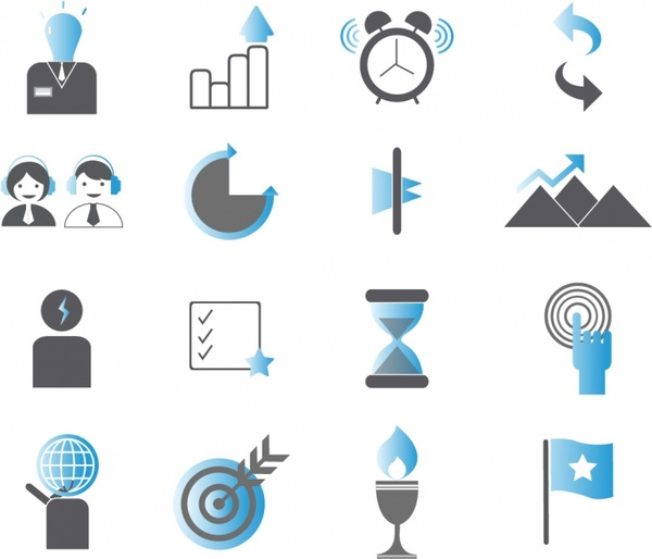 Productive and Efficiency Icon Set