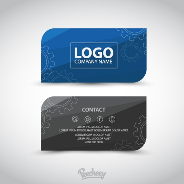 Professional Business Card Template Free Vector In Adobe Illustrator