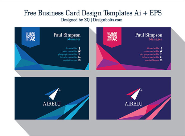 Professional Premium Business Card Design Templates Free Vector In - Professional business card design templates