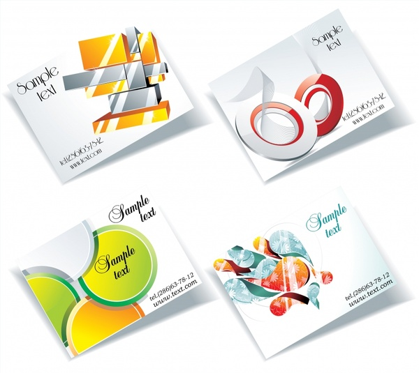 card leaflet cover templates bright colorful modern decor
