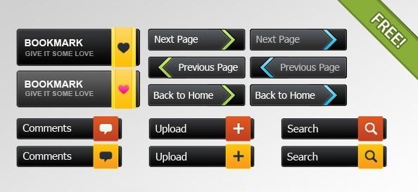 PSD Button collection
