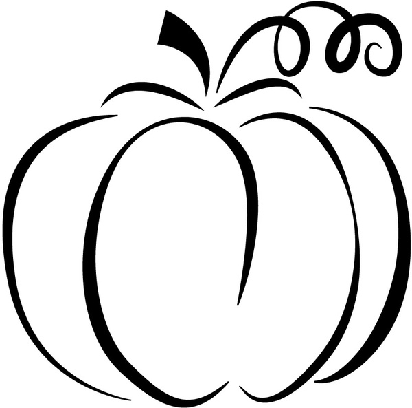 Pumpkin silhouette Free vector in Adobe Illustrator ai ...