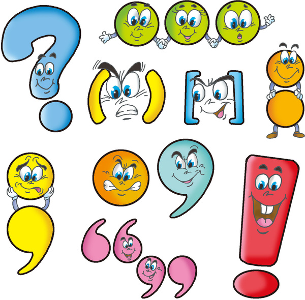 Image result for image punctuation marks cartoon