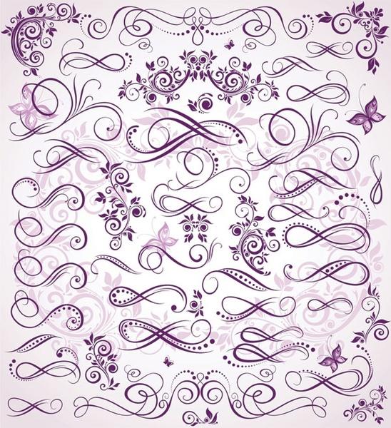 purple fine pattern vector