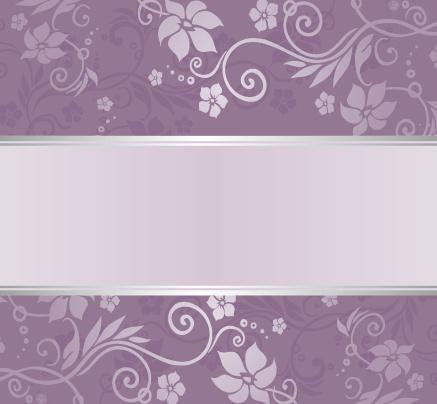 purple floral ornament pattern backgrounds vector