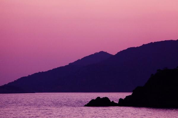purple mountain sunset