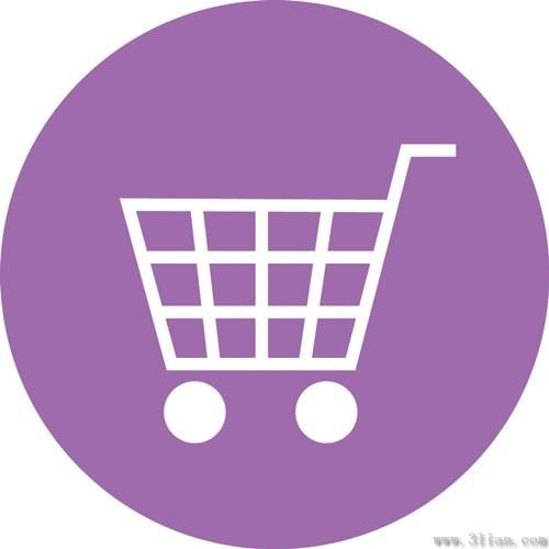 purple shopping cart icon vector free vector in adobe illustrator ai
