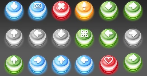 Push Down Buttons icons pack