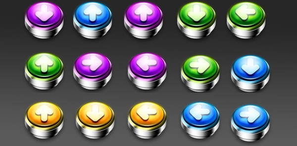 PushDown Buttons 2 icons pack
