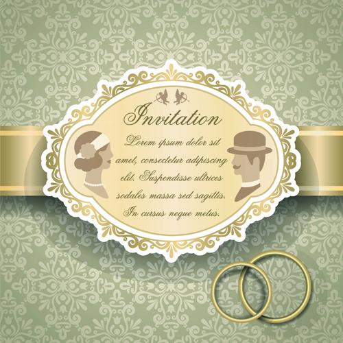 qrnate floral pattern wedding invitations vector