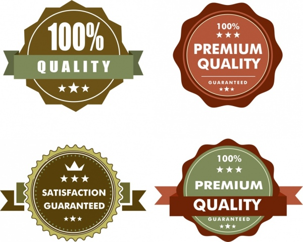 quality seals collection classical circles isolation