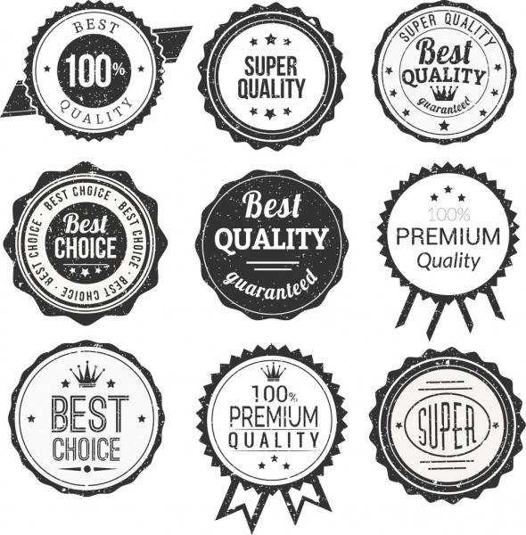 quality stamps collection retro circles decoration
