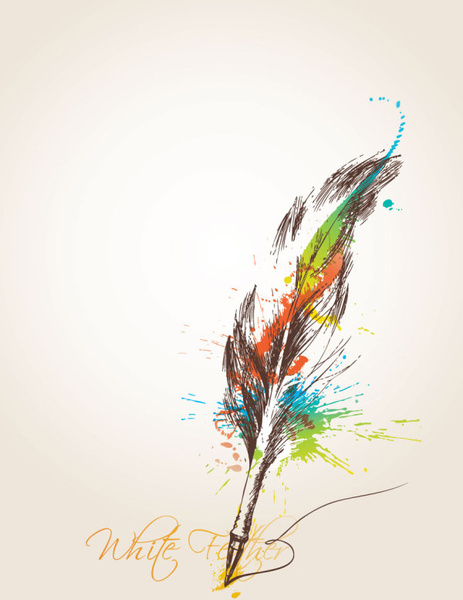 Calendar Wallpaper Quill : Feather quill free vector download for