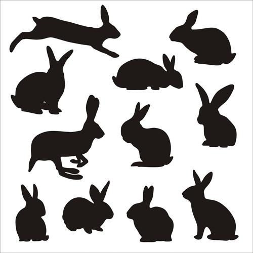 rabbit cute silhouettes vectors free vector in adobe illustrator ai rh all free download com rabbit vector logo rabbit vector logo